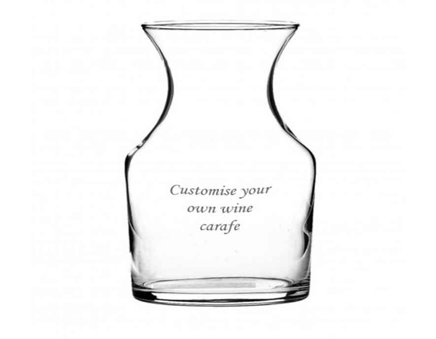 Engraved Wine Carafe