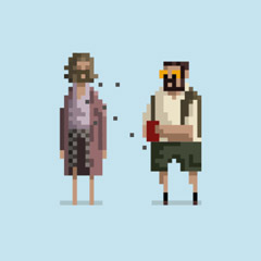 Designer gives cult classics an 8-bit makeover in GIFs