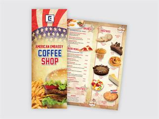 American Embassy Coffee Shop menu