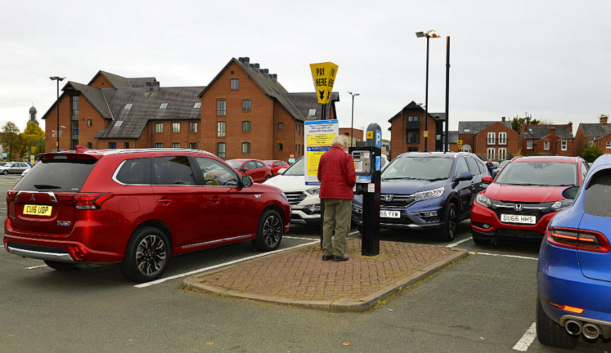 Parking costs in Shropshire