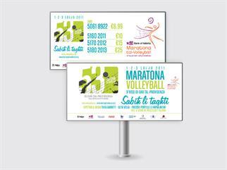 Volleyball Marathon billboard