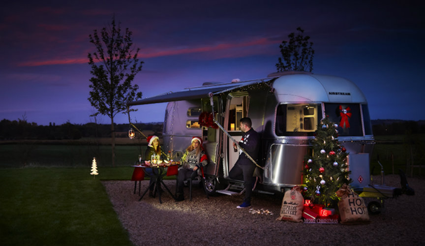 Airstream Caravan at Christmas