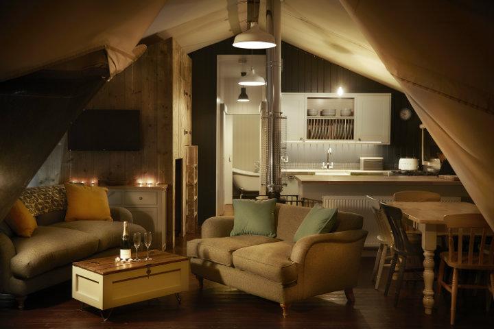 Glamping interiors