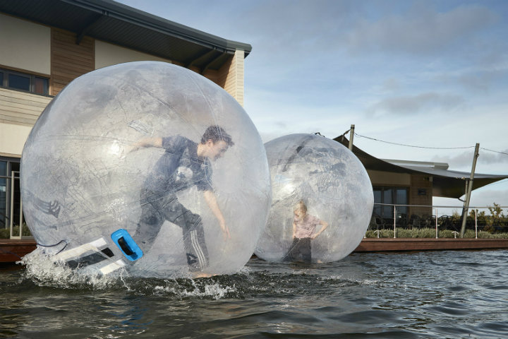Zorbing at Love2Stay