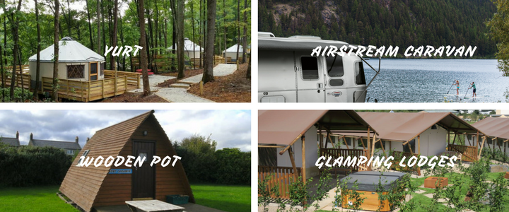 Glamping accommodation types